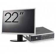 Pachet Calculator HP 8300 USDT, Intel Core i3-3220 3.30GHz, 4GB DDR3, 500GB SATA, DVD-RW + Monitor 22 Inch