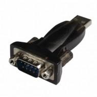 Adaptor USB-A - SERIAL RS232 T/T, LOGILINK AU0002E - Black, Nou