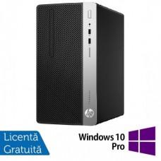 Sistem Desktop PC HP ProDesk 400 G4 MT cu procesor Intel® Core™ i7-7700 3.60 GHz, Kaby Lake, 8GB, 1TB, DVD-RW, Intel HD Graphics, Microsoft Windows 10 Pro
